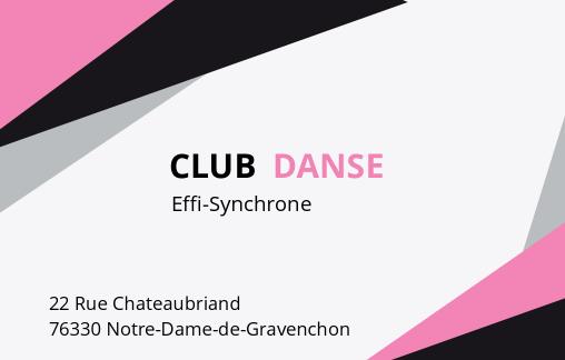 Créer un badge à partir du modèle 'Club de danse