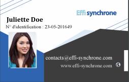 Créer un badge à partir du modèle 'Modele Effi Synchrone